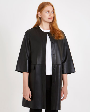 a133e468b59 Carolyn Donnelly The Edit Leather Coat