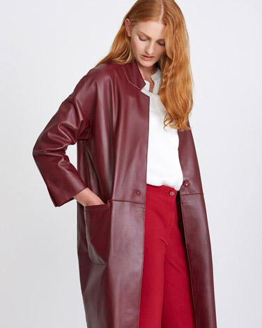 port Carolyn Donnelly The Edit Port Leather Coat