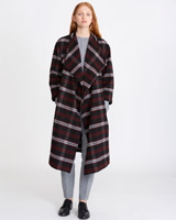 black Carolyn Donnelly The Edit Check Coat