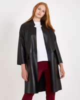 black Carolyn Donnelly The Edit Black Leather Coat