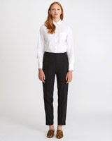 black Carolyn Donnelly The Edit Elastic Tailored Trousers