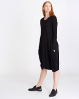 black Carolyn Donnelly The Edit Jersey Dress
