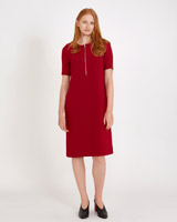 red Carolyn Donnelly The Edit Zip Detail Dress