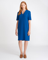 blue Carolyn Donnelly The Edit V-Neck Dress