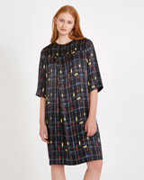 black Carolyn Donnelly The Edit Cube Print Dress