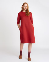 red Carolyn Donnelly The Edit Flared Sweatshirt Dress