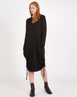 black Carolyn Donnelly The Edit Jersey Drawstring Dress