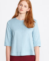 blue Carolyn Donnelly The Edit Cotton Top