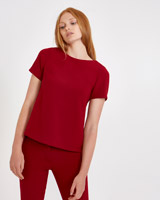 red Carolyn Donnelly The Edit Tailored Top