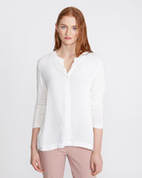 cream Carolyn Donnelly The Edit Bar Tack Blouse