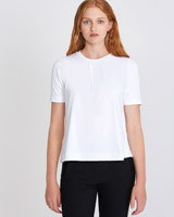 white Carolyn Donnelly The Edit Meryl Pleat Top