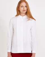 white Carolyn Donnelly The Edit Pleat Panel Shirt
