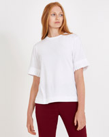 white Carolyn Donnelly The Edit Pleated Sleeve T-Shirt