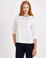 cream Carolyn Donnelly The Edit Curve Hem Top