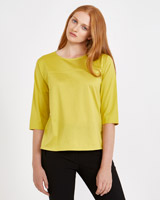 green Carolyn Donnelly The Edit Curve Hem Top