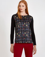 black Carolyn Donnelly The Edit Cube Print Top