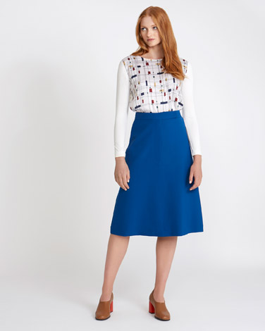 blue Carolyn Donnelly The Edit Flared Skirt