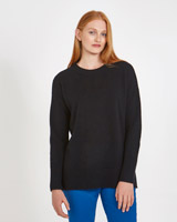 black Carolyn Donnelly The Edit Crew Knit Sweater