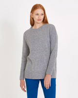 grey Carolyn Donnelly The Edit Crew Knit Sweater