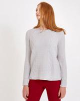 greyCarolyn Donnelly The Edit Aran Sweater