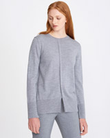 grey Carolyn Donnelly The Edit Merino Crew Sweater