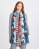 print Carolyn Donnelly The Edit Floral Print Silk Scarf