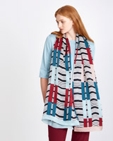 print Carolyn Donnelly The Edit Geo Print Silk Scarf