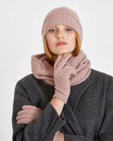 rose Carolyn Donnelly The Edit Cashmere Gloves