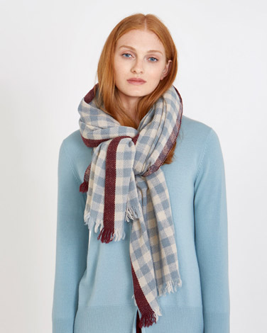 Carolyn Donnelly The Edit Gingham Check Scarf