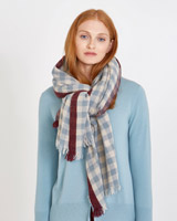 print Carolyn Donnelly The Edit Gingham Check Scarf