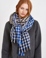 print Carolyn Donnelly The Edit Multi Check Scarf