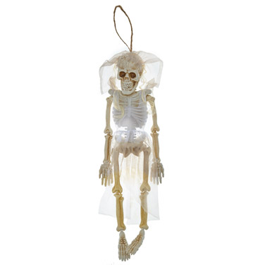 white Bride/Groom Hanging Skeleton