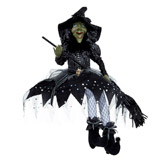 black Sitting Witch Decoration