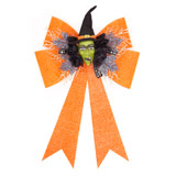 orange Halloween Bow Light Up Decoration
