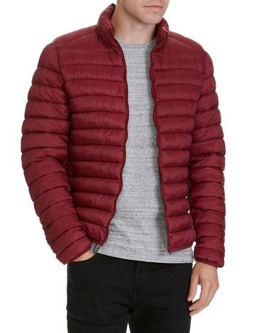 burgundySuperlight Funnel-Neck Jacket