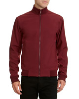 burgundy Softshell Bomber