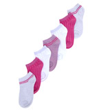 pink-whiteCotton Rich Trainer Liners - Pack Of 7