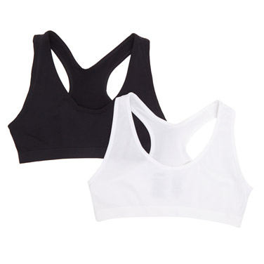 Girls Seamfree Crop Top - Pack Of 2