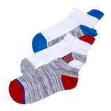 blue-red Boys Performance Sports Socks - 3 Pack