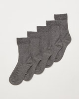 grey Boys School Socks - Pack Of 5
