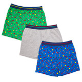 grey-marl Boys Loose Fit Jersey Boxers - Pack Of 3