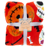 orange Halloween Fleece Throw