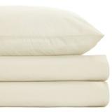creamNon Iron Percale Flat Sheet 180 Thread Count - Single