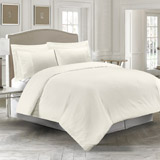 ivory Textured Duvet Cover