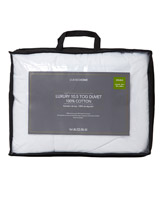 white 10.5 Tog Anti Allergy Duvet - Double