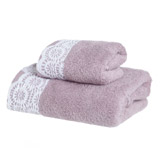 blush Flock Guest Towel