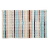multi Chenille Stripe Bath Mat