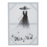 black Black And White Lady Canvas