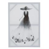 blackBlack And White Lady Canvas