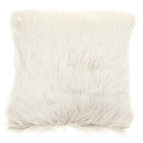 white Faux Sheepskin Cushion